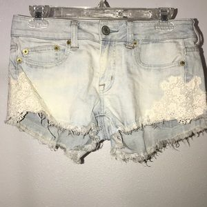 American eagle light washed shorts